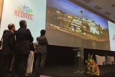 Reitor e gestores do IFF durante exibição da chamada para a Reditec 2018, que será realizada em Búzios-RJ