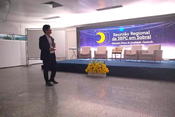 Reitor do IFF apresenta casos de sucesso da Rede Federal em evento da SBPC