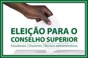 Resultado preliminar da eleição para o Conselho Superior