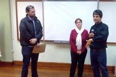 Reitor do IFFluminense, Jefferson Manhães, ao lado da coordenadora de Políticas Culturais e Diversidade, Kátia Macabu, e do Secretário de Estado de Cultura, André Lazaroni.