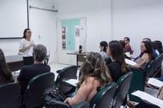 Curso foi ministrado pela professora aposentada, Edinalda Almeida (Fotos: Mayhara Barcelos/IFF)