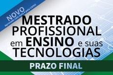 Últimos dias de inscrição para o Mestrado em Ensino e suas Tecnologias do IFF