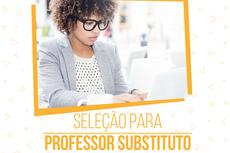 O Processo Seletivo será realizado por meio de análise de currículo e prova de desempenho didático