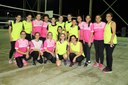 As equipes do Campus Guarus (rosa) e da Reitoria (amarelo).