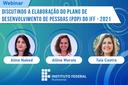 Webinar desta quarta, 10 de junho, será sobre Plano de Desenvolvimento de Pessoas do IFF